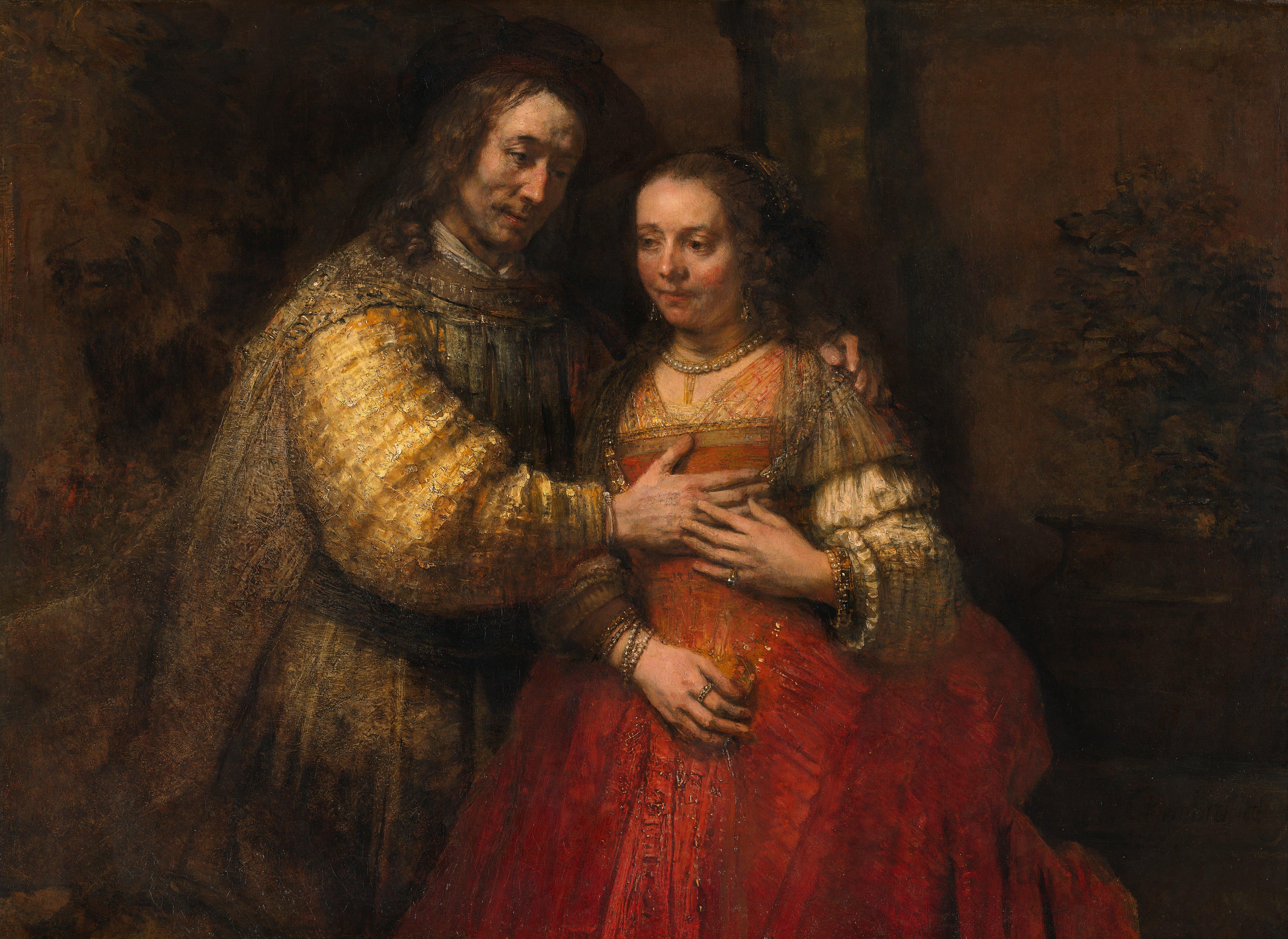 Rembrandt_Harmensz._van_Rijn_-_Portret_van_een_paar_als_Oud-Testamentische_figuren,_genaamd_'Het_Joodse_bruidje'_-_Google_Art_Project