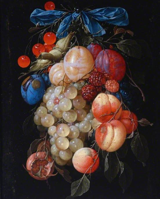 de Heem, Cornelis, 1631-1695; A Garland of Fruit